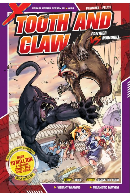X-VENTURE Primal Power III 01: Tooth and Claw: Panther VS Mandrill